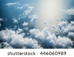Clouds And Sea Aerial View As...