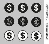 set of vector dollar signs | Shutterstock .eps vector #446068630