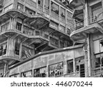 abandoned warehouse in a... | Shutterstock . vector #446070244