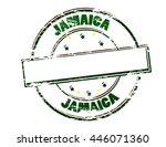 rubber stamp with word jamaica... | Shutterstock .eps vector #446071360