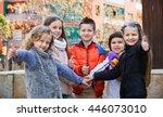 positive cheerful children...   Shutterstock . vector #446073010