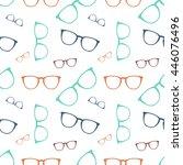 vector colorful glasses... | Shutterstock .eps vector #446076496