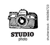 camera photography studio... | Shutterstock .eps vector #446086723