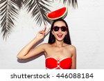 vacation. summer travel.... | Shutterstock . vector #446088184