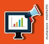 computer business statistics...   Shutterstock .eps vector #446096590