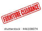 furniture clearance red stamp...   Shutterstock .eps vector #446108074