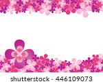 blank space pink purple blossom ... | Shutterstock .eps vector #446109073