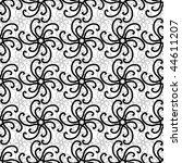 seamless black and white swirl... | Shutterstock .eps vector #44611207