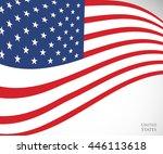 vector image of american flag ... | Shutterstock .eps vector #446113618
