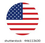 vector image of american flag ... | Shutterstock .eps vector #446113630
