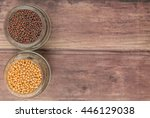 yellow and brown indian mustard ... | Shutterstock . vector #446129038