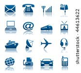 telecom and transportation icon ... | Shutterstock .eps vector #44613622