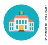 museum colored vector... | Shutterstock .eps vector #446140354