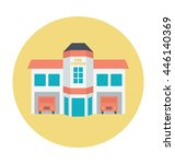 luxury house colored vector... | Shutterstock .eps vector #446140369