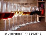 Many Glasses Of Different Wine...