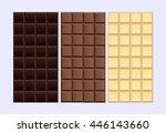 basic kinds of chocolate  dark... | Shutterstock .eps vector #446143660