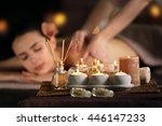 spa composition on beautiful... | Shutterstock . vector #446147233