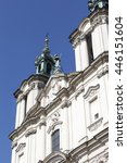 Small photo of The top of the facade of Church on Skalka , Pauline Fathers Monastery, Krakow, Poland