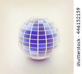 abstract sphere with blue... | Shutterstock . vector #446152159