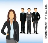 woman and man avatar icon.... | Shutterstock .eps vector #446163136