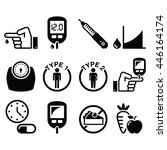 Diabetes Disease  Health Icons...
