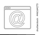 web browser icon illustration... | Shutterstock .eps vector #446164273