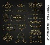 ornate frames elements gold...   Shutterstock .eps vector #446168023