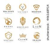 logo collection. set of brand... | Shutterstock .eps vector #446168914