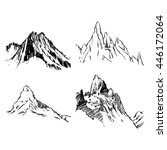 vector mountains on a white... | Shutterstock .eps vector #446172064
