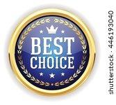 blue best choice button  badge...   Shutterstock .eps vector #446193040