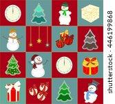 christmas card. christmas... | Shutterstock .eps vector #446199868