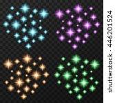 magic sparkles set. four... | Shutterstock .eps vector #446201524