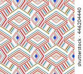 multicolored geometric seamless ... | Shutterstock . vector #446204440