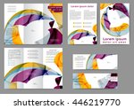 set of color abstract brochure... | Shutterstock .eps vector #446219770