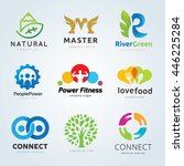 logo collection. set of brand... | Shutterstock .eps vector #446225284