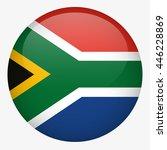 south africa flag button   Shutterstock .eps vector #446228869
