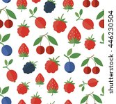 seamless pattern with fresh... | Shutterstock . vector #446230504