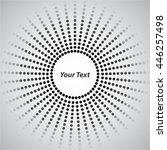 background white circle round... | Shutterstock .eps vector #446257498
