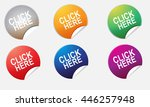 click here button vector  | Shutterstock .eps vector #446257948
