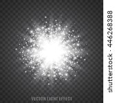 abstract explosion. glittering... | Shutterstock .eps vector #446268388