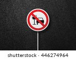 road sign of the circular shape ...   Shutterstock . vector #446274964