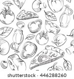 vector pattern of the... | Shutterstock .eps vector #446288260