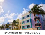 miami beach ocean boulevard art ... | Shutterstock . vector #446291779