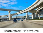 houston texas crossroads... | Shutterstock . vector #446295898