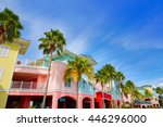 florida fort myers colorful... | Shutterstock . vector #446296000
