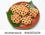 achappam  popular deep fried... | Shutterstock . vector #446301634