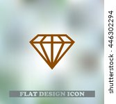 diamond vector icon. flat...