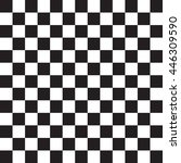 black and white checkered... | Shutterstock .eps vector #446309590