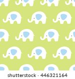 vector seamless elephants... | Shutterstock .eps vector #446321164