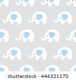 vector elephants pattern. cute... | Shutterstock .eps vector #446321170